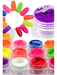 cheap -1 Bottle Colorful Neon Effect Nail Art Neon Pigment Power Beautiful Nail Fluorescent Glitter Power Nail Beauty Design Nail DIY Decoration YE01-13