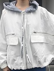 Realmente fazendo 2017 Primavera nova impressão de volta por idade casaco com capuz grande bolso grande