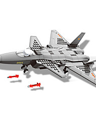 Building Blocks Toys Aircraft Fighter Military 286 Pieces Boys Boys' Gift