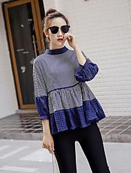 Ajouter des engrais pour augmenter la graisse mm 2017 printemps nouvelles femmes&La mode wawa shan a été mince, une chemise à manches