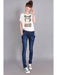 Casual wear vain old retro Slim was thin denim pants jeans feet pencil pants