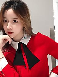 Sign Stock # Korean doll collar bow blouse wild temperament loose long-sleeved chiffon shirt female