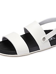 Camel Women's Summer Comfort Light Soles Microfibre Flat Sandals Color White/Black