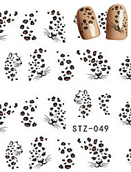 cheap -10pcs/set Hot Sale Sexy Nail Art Water Transfer Decals Sexy Leopard Design Beautiful Nail Art Sticker DIY Beauty Decals Romantic Decals STZ-049