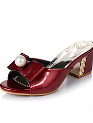cheap -Women's Sandals Spring Summer Comfort Leatherette Dress Casual Chunky Heel Buckle Walking
