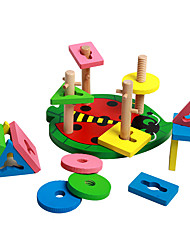 Blocos de Construir Brinquedo Educativo Brinquedos Forma Cilindrica Peças Crianças Dom
