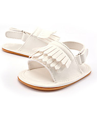 cheap -Girls' Shoes Leatherette Summer First Walkers Sandals Tassel / Gore for Kid's Gold / White / Pink