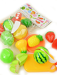 cheap -Toy Kitchen Sets Toy Food / Play Food Toy Kitchens & Play Food Toy Circular Vegetables Plastic Girls' Kid's Gift 9pcs