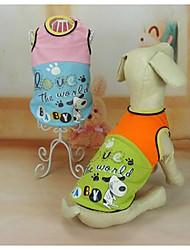 Cachorro Vestidos Roupas para Cães Fofo Casual Princesa Arco-Íris Ocasiões Especiais Para animais de estimação