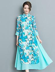 2017 été nouveau vent national rétro style chinois amélioré cheongsam robe tous les jours
