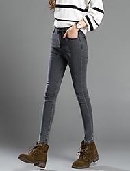 segno 2016 autunno nuova fumo grigio era sottili matita tratto pantaloni piedi pantaloni jeans stretti