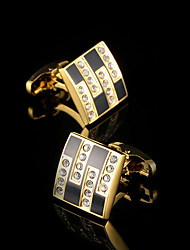 cheap -Geometric White Black Cufflinks Copper Fashion Gift Boxes & Bags Men's Costume Jewelry