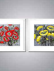 cheap -Print Rolled Canvas Prints - Abstract / Floral / Botanical European Style / Traditional