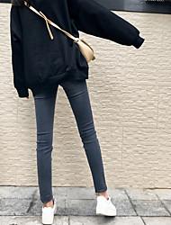 firmare i vestiti invernali nuovi jeans di piedi sottili significativamente sottile lavato i jeans del foro femminili versione coreana