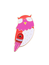 cheap -Women's Boys' Girls' Brooches Unique Design Animal Design Adorable Cute Style Enamel Alloy Owl Jewelry For Wedding Party Special Occasion