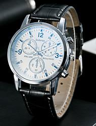 Men's Classic Fashion Upscale Blue Glass Eye Dial Quartz Watch
