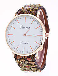 cheap -Women's Set Auger South Korea Flocking Ultra-Thin Restoring Ancient Ways Geneva Quartz Watch