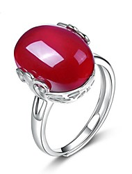 cheap -Women's Sterling Silver Crystal Agate Ring - Drop Unique Design For Wedding Party Special Occasion