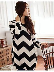 Bela nova grande tamanho t-shirt -17 série de preto e branco ondulação da água