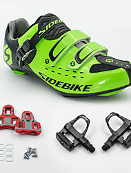 BOODUN/SIDEBIKE® Sneakers Road Bike Shoes With Pedal & Cleats Unisex Cushioning Outdoor Road Bike PU Breathable Mesh Cycling