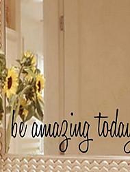 Недорогие -Слова и фразы Наклейки Простые наклейки Декоративные наклейки на стены, Винил Украшение дома Наклейка на стену Стекло / ванной комнаты