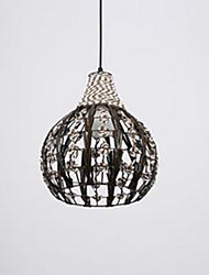 cheap -Retro pastoral Cafe Lighting Handmade Rattan Rope Chandelier Personality