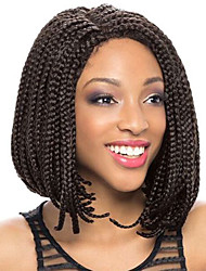 cheap -Synthetic Lace Front Wig African Braids Braided Wig African American Wig Side Part Natural Hairline Black Women's Lace Front Natural Wigs
