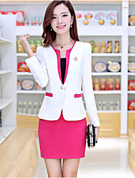 cheap -Women's Work Blazer - Solid Coloreded