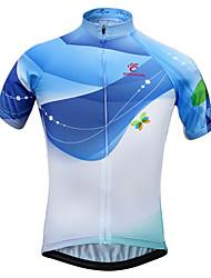 preiswerte -JESOCYCLING Fahrradtrikot Damen Kurzarm Fahhrad Trikot/Radtrikot Oberteile Rasche Trocknung UV-resistant Atmungsaktiv Leichtes Material