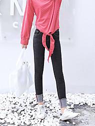firmare la versione coreana del polsini pantaloni matita nuovi selvatici della vita elastica jeans sottili piedi femminili