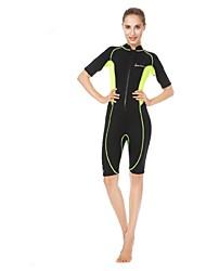 economico -WELLPATH Per donna Mutino Tenere al caldo Resistente ai raggi UV Nylon Neoprene Mezza manica Scafandri Immersioni Surf Snorkeling