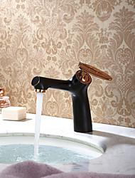 Antique Décoration artistique/Rétro Traditionnel Set de centre Séparé with  Soupape céramique Mitigeur un trou for  Or rose , Robinet