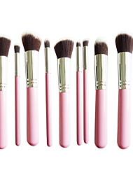 New 10 Silver Pink Face Eye Lip Makeup Brush Sets Shading Brush Brush Highlights Beginners Essential Professional Makeup Brush Bag Mail