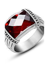 ieftine -Bărbați Inel Pătrat Oțel titan Geometric Shape Bijuterii Pentru Zilnic