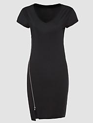 Expédié de grands modèles d'éclatement d'été de robe de mode haut de gamme à manches courtes à manches