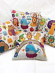 1 pcs Linen Novelty Pillow Pillow Case Body Pillow Travel Pillow Sofa Cushion,Animal Print Casual Modern/Contemporary Country