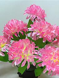preiswerte -1 Ast Trockenblume Gänseblümchen Lila Tisch-Blumen Künstliche Blumen