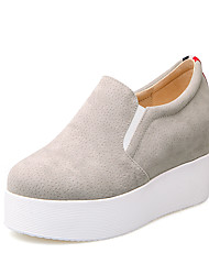 cheap -Women's Shoes Fleece Summer / Fall Club Shoes Sneakers Platform Round Toe for Office & Career / Party & Evening / Dress Black / Gray / Red