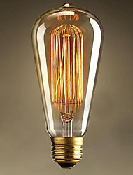 ST64 E27 60W Edison Light Art Deco AC220V High Quality Incandescent Bulbs