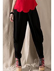 2017 printemps et été femmes&Pantalons larges pantalons&# Pantalons de coton en coton à vent national pantalon radis