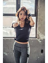 MYLEDI Running Tights Gym Leggings Breathable Sweat-wicking Leggings for Exercise & Fitness Running Chinlon Slim Black Light Grey S M L XL