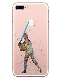 billige -Etui Til Apple iPhone X / iPhone 8 Transparent / Mønster Bagcover Tegneserie Blødt TPU for iPhone X / iPhone 8 Plus / iPhone 8