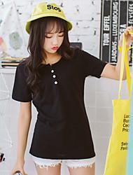 assinar algodão bambu contínuo t-shirt 2017