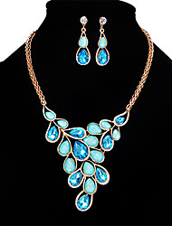 cheap -Women's Crystal Jewelry Set - Crystal, Opal Fashion, Euramerican Include Light Yellow / Blue / Pink For Wedding Party Special Occasion / Necklace