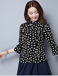 2017 primavera e no verão camisa Miss Tang Zhuang vestido chá de mangas de etnia chinesa