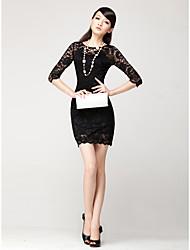 la nouvelle robe en dentelle dentelle automne femme ajourées boîte de nuit sexy serré Pack robe de la hanche
