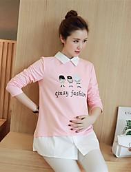 Women's New Baby Dailywear Daily Street Cute Spring Fall Blouse,Others Shirt Collar Long Sleeves N/A Medium