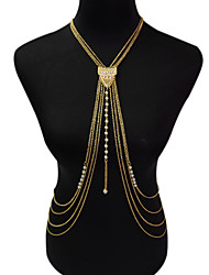 cheap -Women's Body Jewelry Body Chain Fashion Necklace Belly Chain Bohemian Vintage Tassels Charm Alloy Casual Daily Imitation Pearl Beach Bikini Jewelry