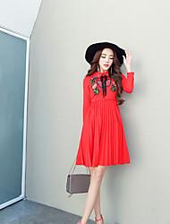 segno 2017 nuovo arco bavero ricamo abito plissettato rosso brindisi il vestito sposa porta sul retro