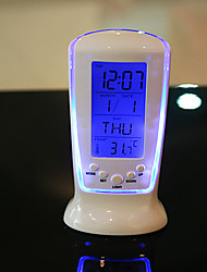Creative LED Luminous Music Digital Alarm Clock Timer Backlight Blue Ray Temperature Display Calendar Clock